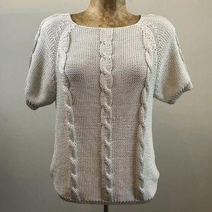 Kate Landry Knit Sweater Short Sleeve Size S